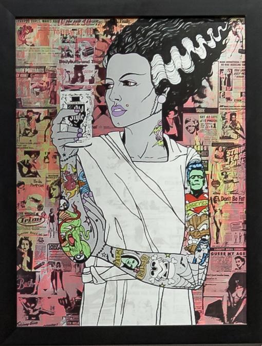 Donald Topp Cartoon Tattoo Hipster Girls - Bride of Frankenstein