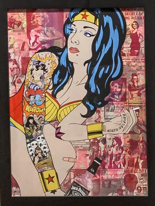 Donald Topp Cartoon Tattoo Hipster Girls - Wonder Woman