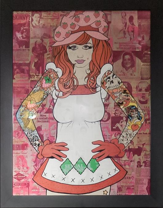 Donald Topp Cartoon Tattoo Hipster Girls - Strawberry Shortcake