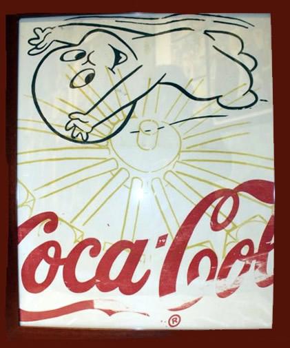"Peter Mars Serigraph print on fabric -Casper #1 22""x20"" $1000 Framed"