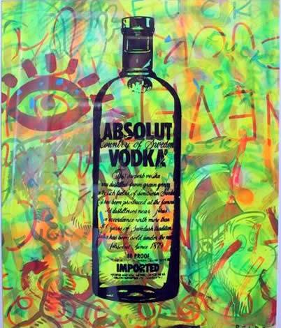 "Original Chris Peldo Art - Absolute Eye 32""x28"" $2000"