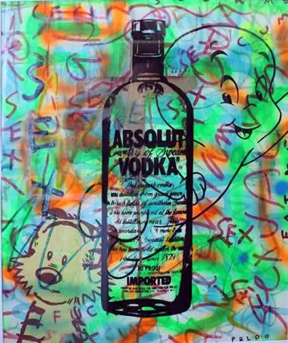 """Original Chris Peldo Art - Absolute Sex 32""""x28"""" $2000"""