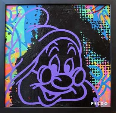 """Original Chris Peldo Art - Doc 14.5""""x14.5"""" $1500"""