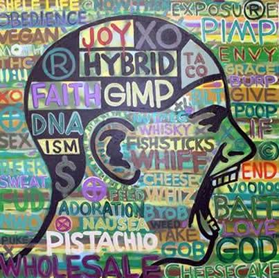 """Original Chris Peldo Art - Faith Head 32""""x32"""" $3200"""