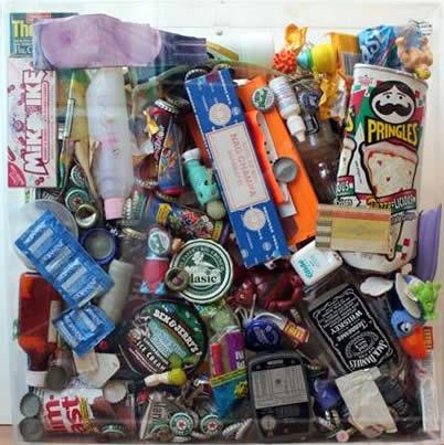 """Original Chris Peldo Art - Garbage Painting #1 20""""x20"""" $1500"""