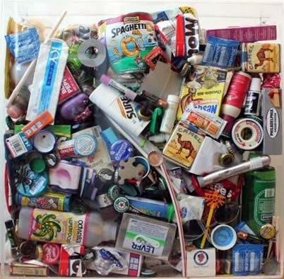 """Original Chris Peldo Art - Garbage Painting #2 20""""x20"""" $1500"""