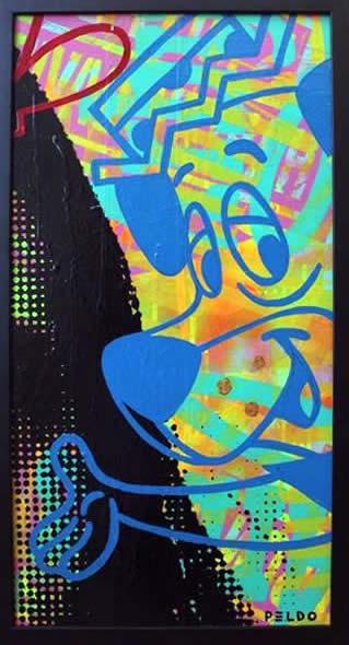 """Original Chris Peldo Art - Huckleberry Hound 24""""x13"""" $1500"""