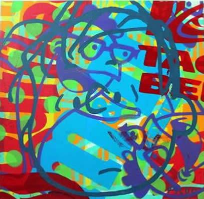"""Original Chris Peldo Art - Linus 18""""x18"""" $1500"""