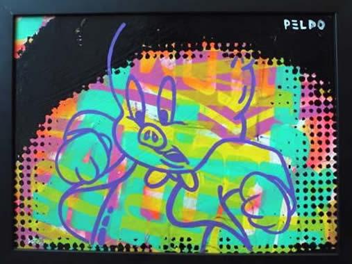 """Original Chris Peldo Art - Porky Pig 11""""x15"""" $1500"""