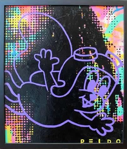 "Original Chris Peldo Art - Rocket J. Squirrel 21""x16"" $1500"