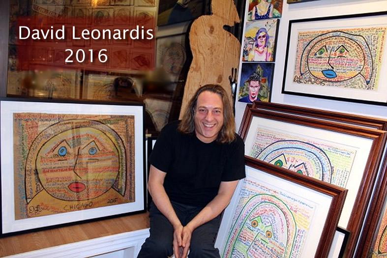 david leonardis in 2016 with his original art prints