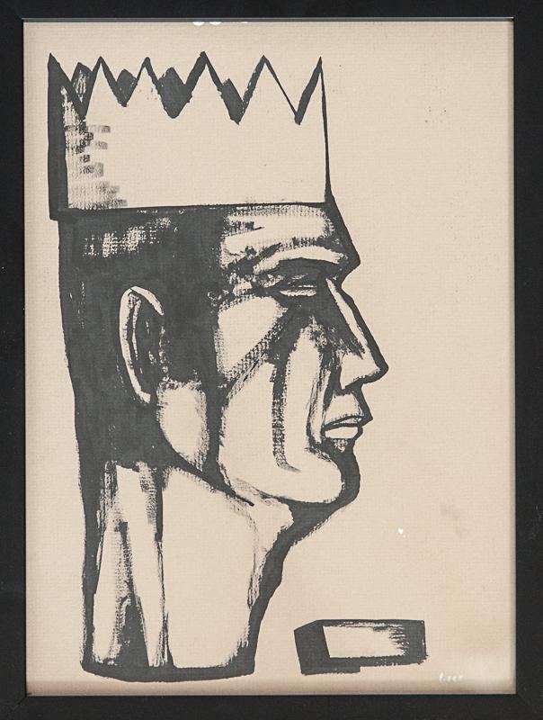 """original matt geer - Potrait of a King 17""""x13"""""""