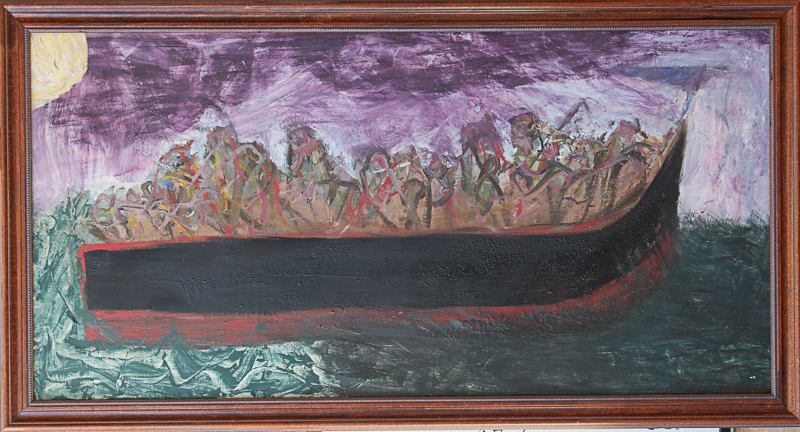 """Andy Kane painting - The River Styx 28""""x52"""""""