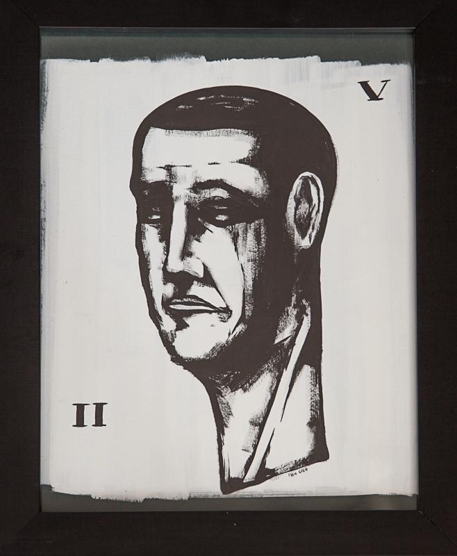 """Matt Geer painting - Bust II V 20""""x16""""Framed"""
