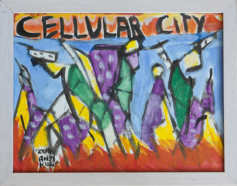 "Andy Kane - Cellular City 10""x13"""