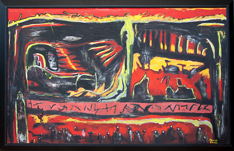 """Andy Kane Painting - The Riverboat in Hell 34""""x52"""""""