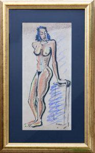 Tristan Meinecke original nude pastel on paper 1941
