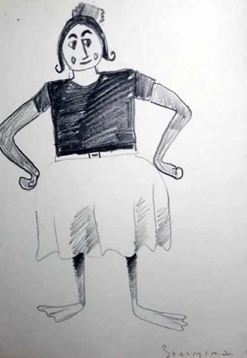 """Jay Steensma Original Art - Drawing on Paper 16""""x12"""" Framed $700"""