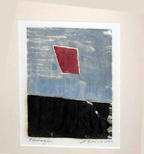 "Jay Steensma Original Art - Homage 16""x12"" Wood Block Print on Paper Framed $700"