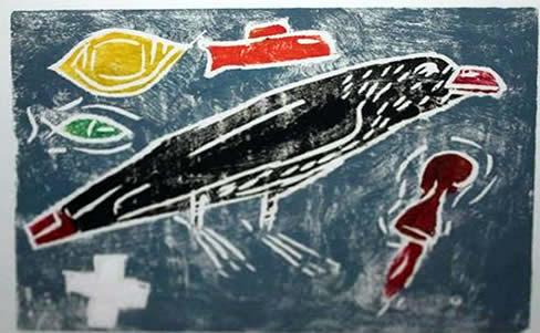 "Jay Steensma Original Art - Unsigned Wood Block Print on Paper 12""x16"" Framed $700"
