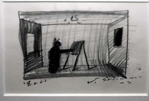 "Jay Steensma Original Art - ""Eco"" Signed Drawing on Paper 12""x16"" Framed $900"