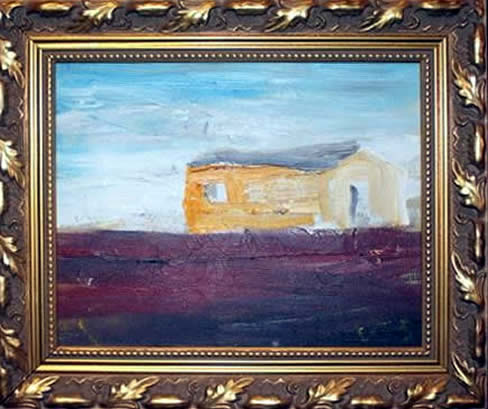 "Jay Steensma Original Art - ""Eco #2"" Signed Oil on Canvas 11""x13""Framed $2000"