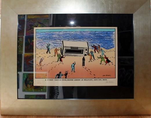 Original Ken Brown Screen Print - 17 Foot Toaster Oven