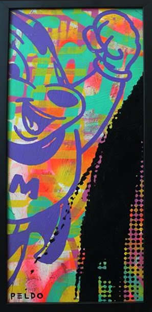 """Original Chris Peldo Art - Mighty Mouse 21""""x10"""" $1500"""