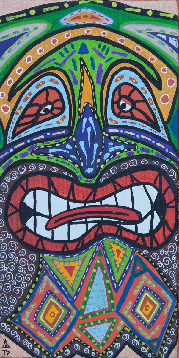 Tony Passero Mask Painting
