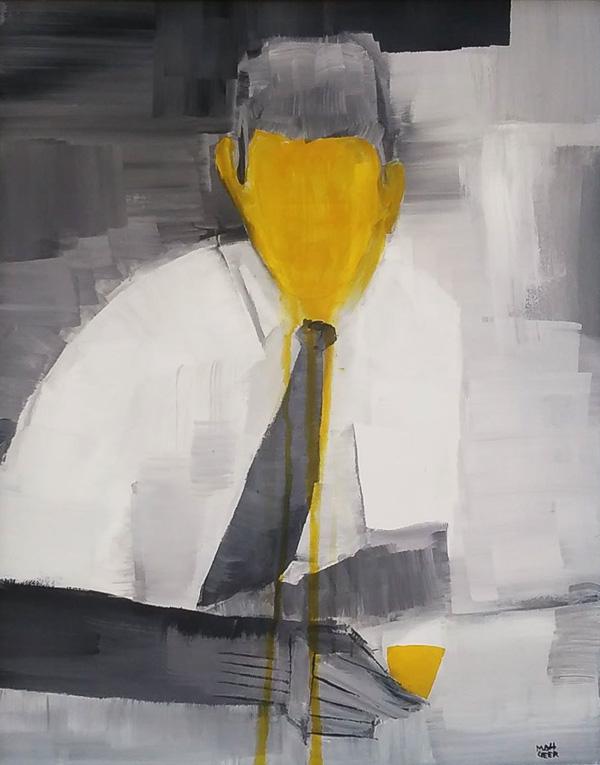 matt geer original painting corporate misidentity