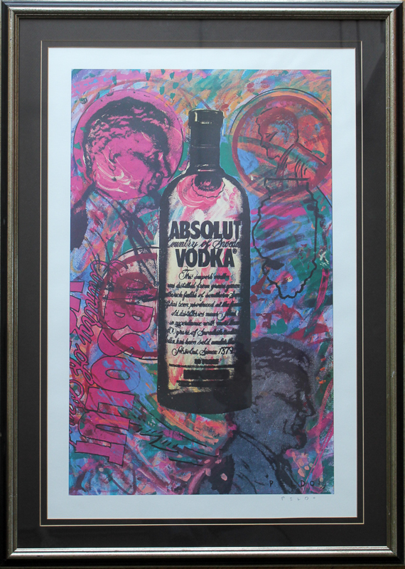 Original Chris Peldo Art - Absolut Illinois Print produced by DIFFA Artist Proof