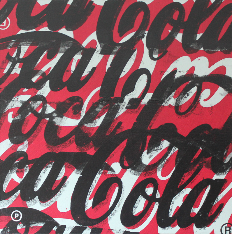 Original Chris Peldo Art - Coca-Cola Text
