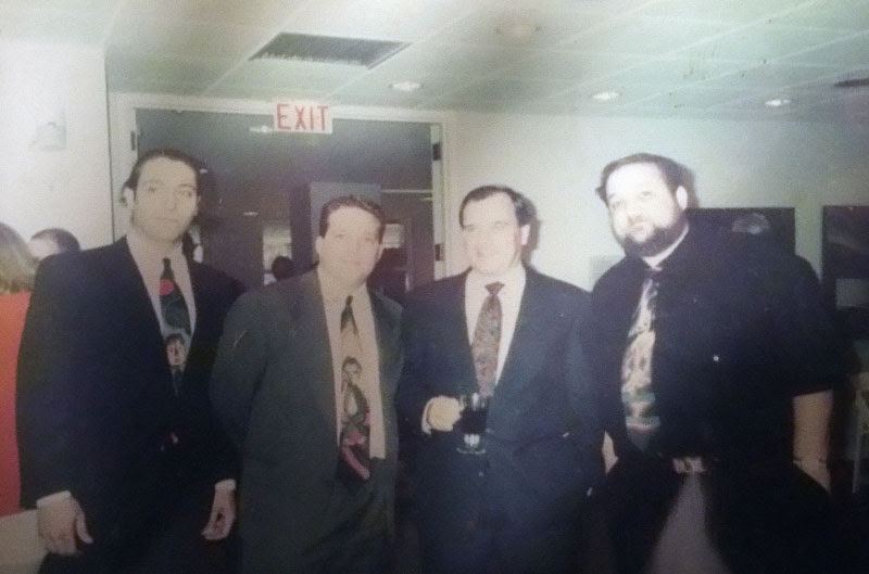 David Leonardis, Chris Peldo, Mayor Richard M. Daley, Marc Hauser. 1992 Chris Peldo was the Absolut Illinois Artist. Note the 3 Marc Hauser ties. Very cool.