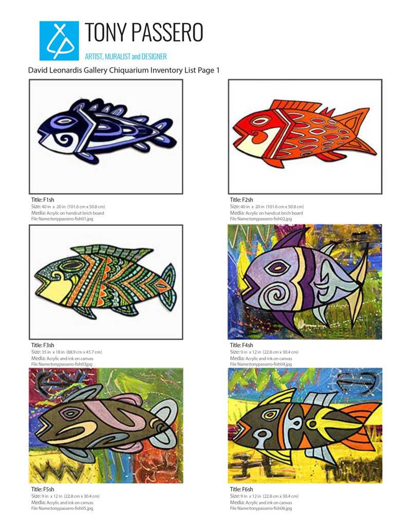 tony passero fish collection