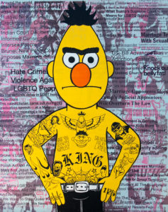 Donald Topp Tatto Hipster Bert and Ernie