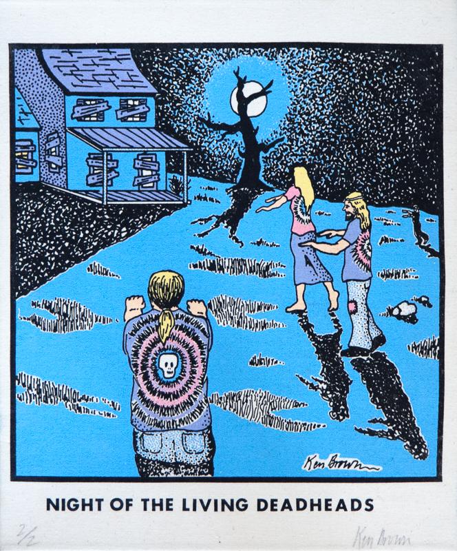 Original Ken Brown Screen Print House of the living deadheads