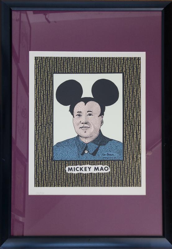 Original Ken Brown Screen Print Mickey Mao