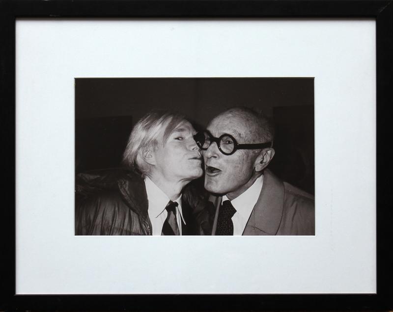chris makos Andy Warhol Kissing Philip Johnson
