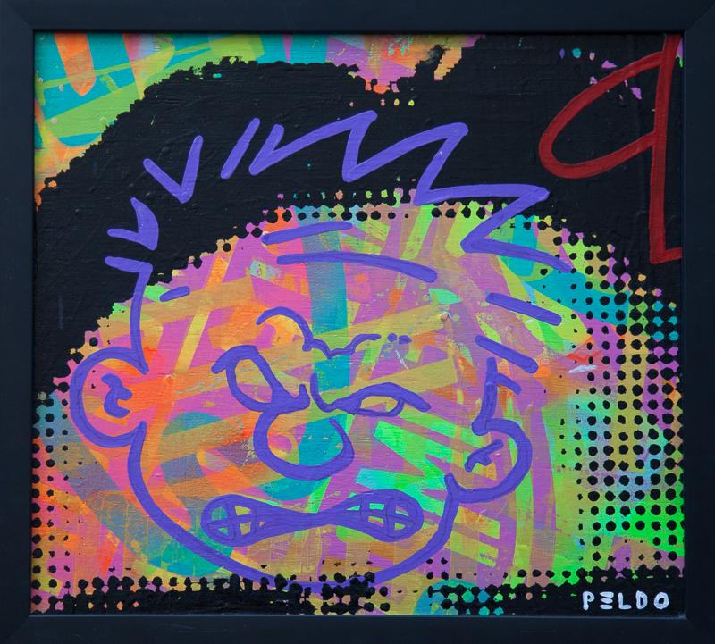 Original Chris Peldo Art Calvin Angry