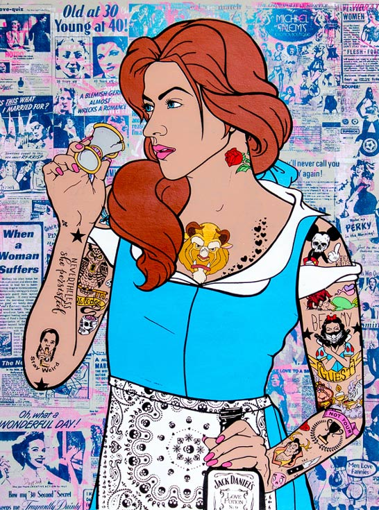 Belle Donald Topp Cartoon Tattoo Hipster Chicks