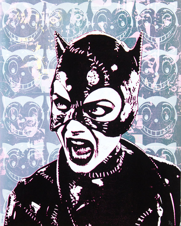 Catwoman Michelle Pfeiffer Donald Topp icon print