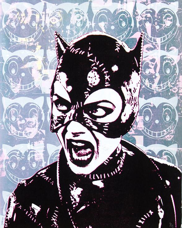 Catwoman Michelle Pfeiffer Donald Topp icon print