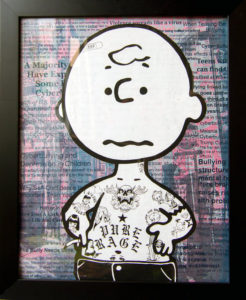 Charlie Brown Donald Topp Cartoon Tattoo Hipster