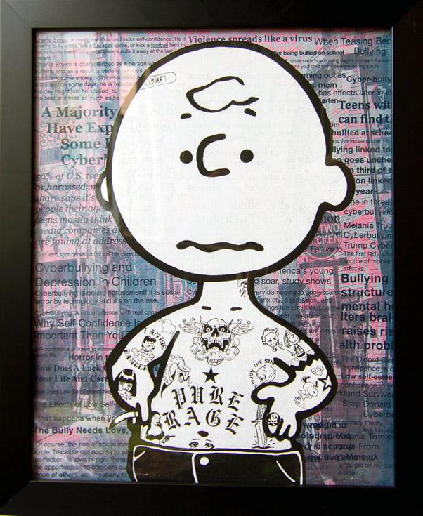 Charlie Brown Donald Topp Cartoon Tattoo Hipster