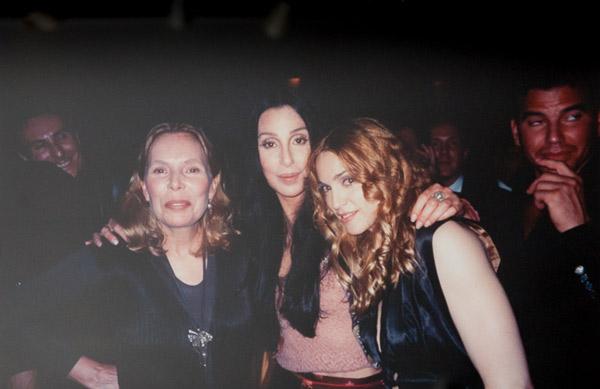 Joni Mitchell Cher & Madonna by Patrick McMullan