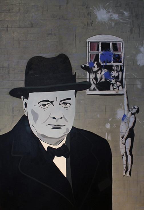 Winston Churchill & Banksy by Maximilian