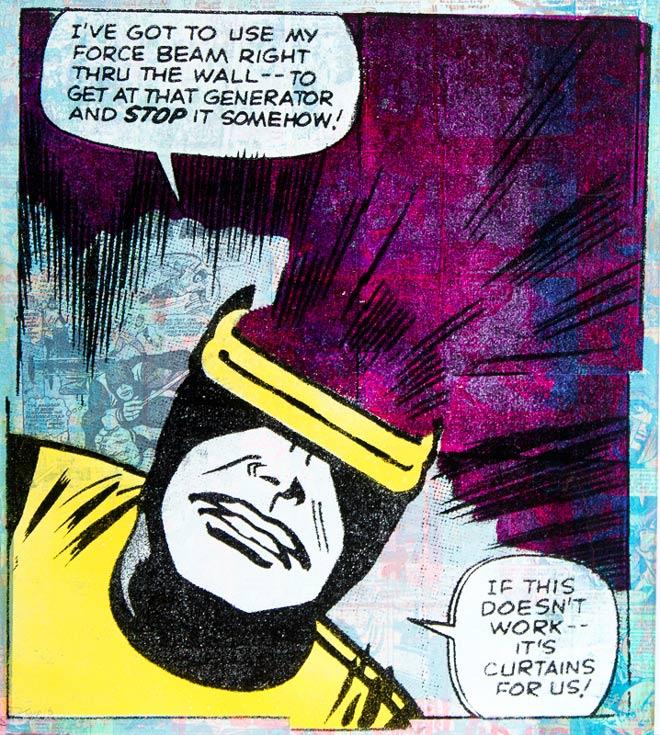 Cyclops X-Men Donald Topp cartoon icon print