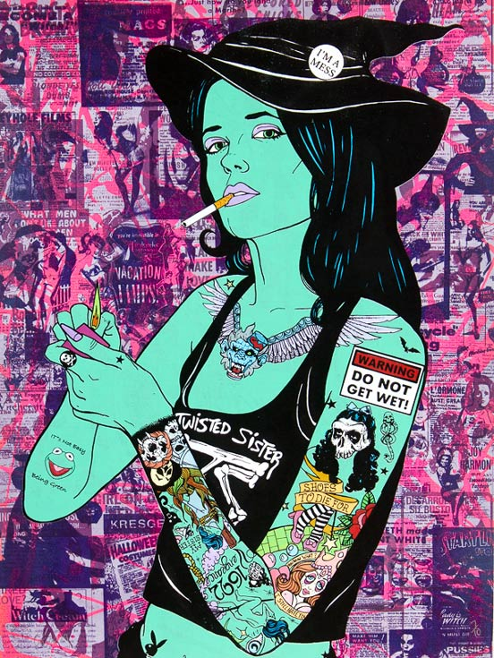 Elphaba Donald Topp Cartoon Tattoo Hipster Chicks