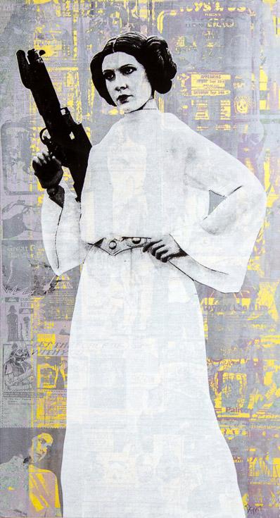Princess Leia Donald Topp icon print
