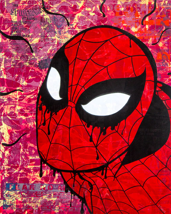Spiderman Donald Topp icon print
